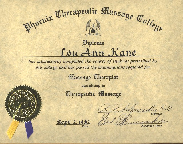 Lou Ann Kane Bio: B.E.S.T. Massage Therapy, Applied Physiology